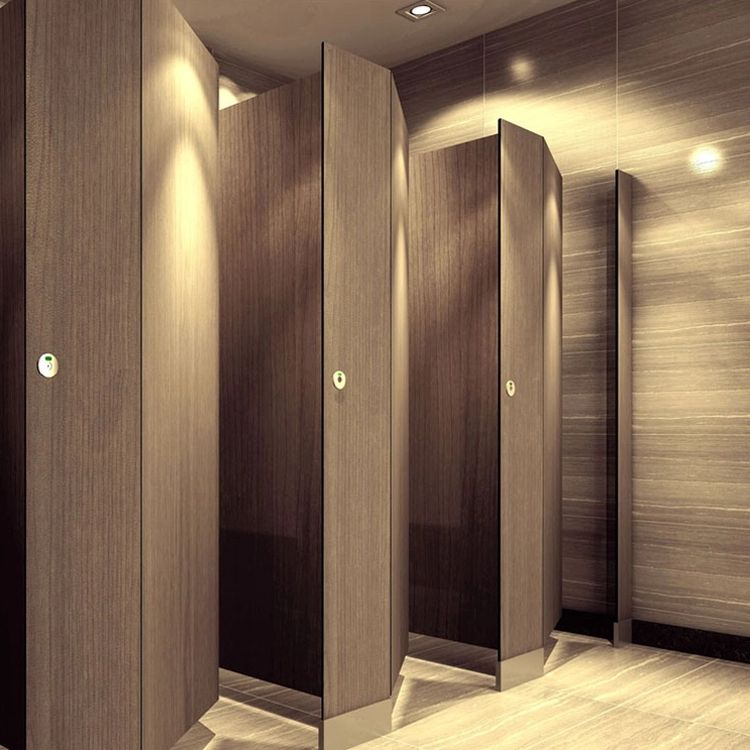 High Quality Customized Multi-Door Compact Laminate Anti Fire Water Proof High Pressure HPL Toilet Cubicle Partition/