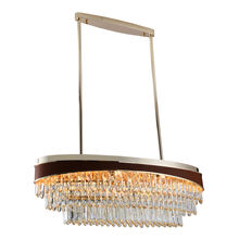 modern indoor Luxury large hotel lobby home ceiling pendant chandaliers light decorative fixtures crystal flat chandelier light