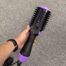 One Step Hair Dryer And Volumizer Hot Air Styling Brush With Generator Hair Straightener Curler
