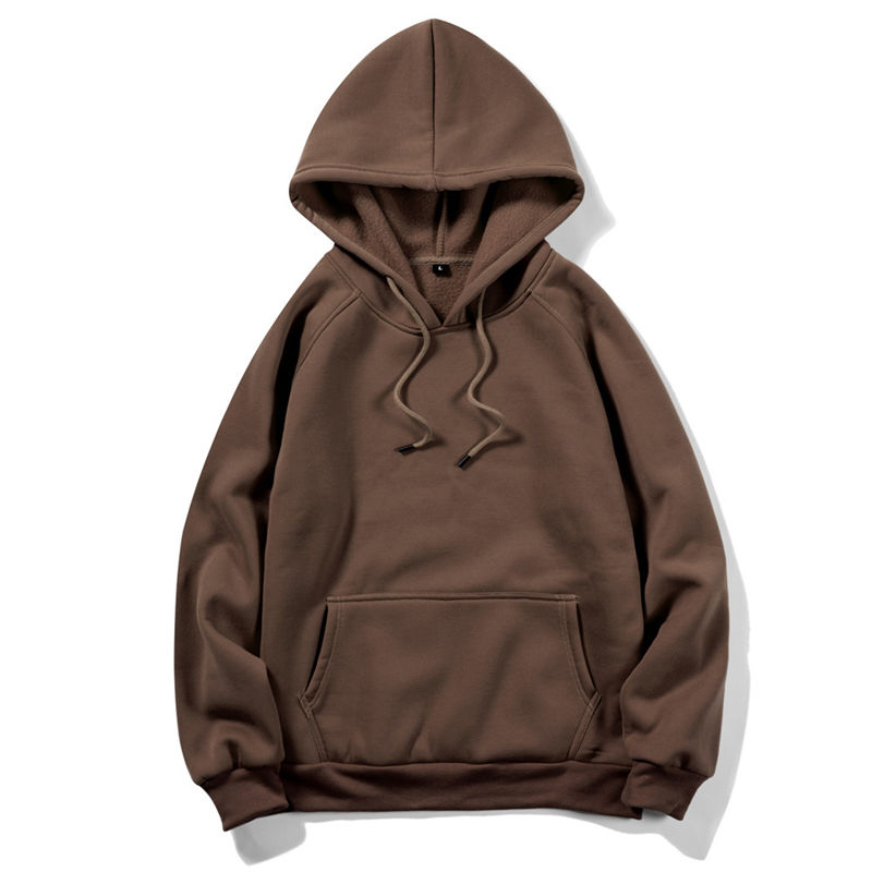 Wholesale High Quality Plain Hoodies Sweatshirt Unisex Hip Hop Oversized Custom Hoodie Solid Color Sweater For Men And Women