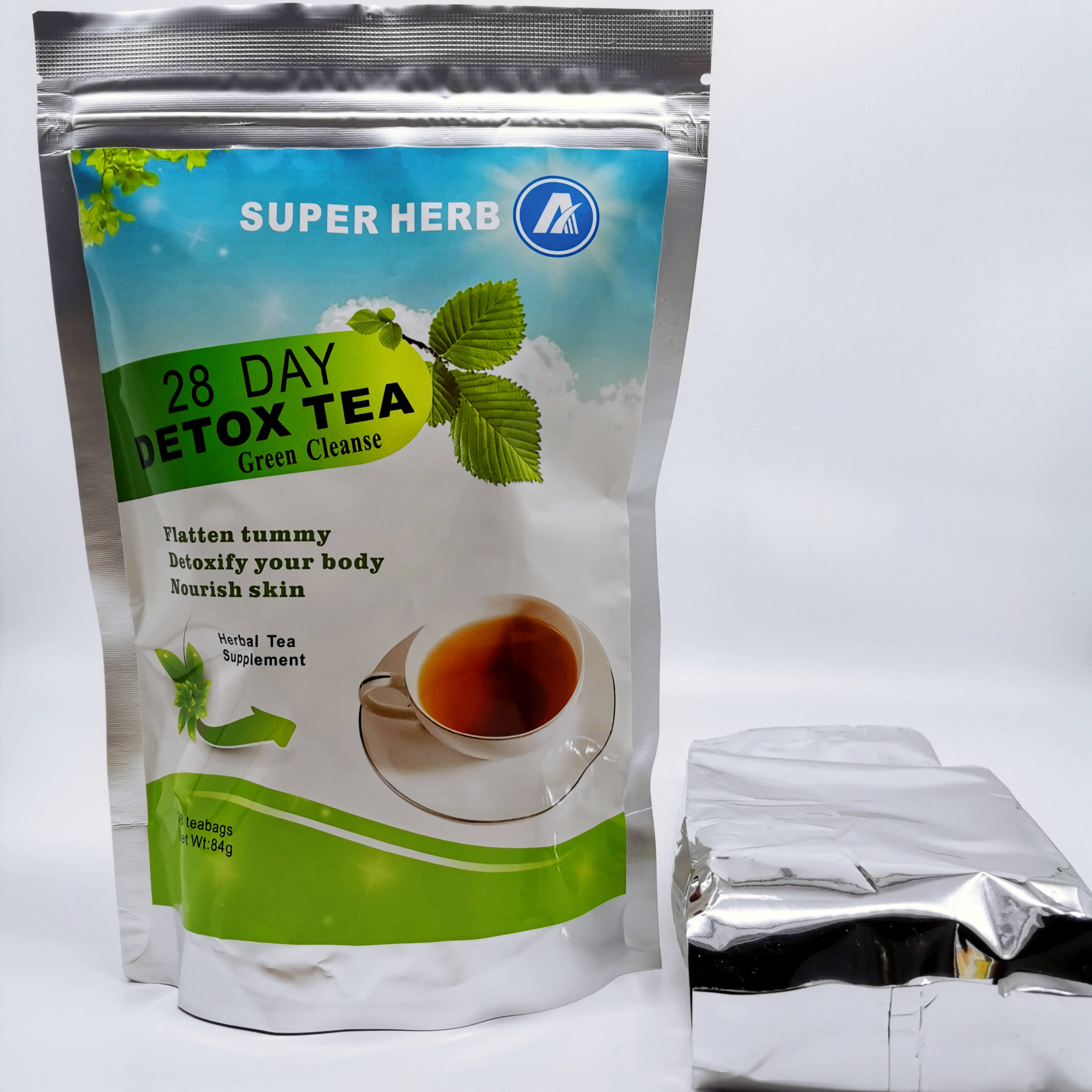 All-natural Chinese Super Herb 28 Day Best Slimming Detox Fat Burning Tea Quick Effect Slim Tea