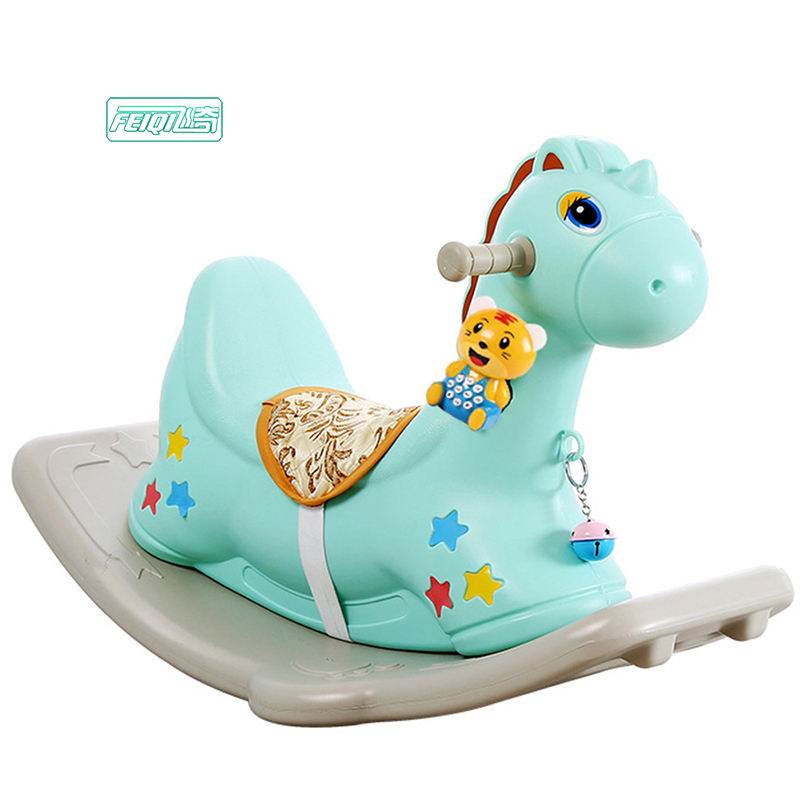 Feiqi toys dual function plastic rocking horse