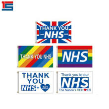 2020 Love Support NHS Thank You Flag 3x5Ft Rainbow Thanks Flag Pride Flag