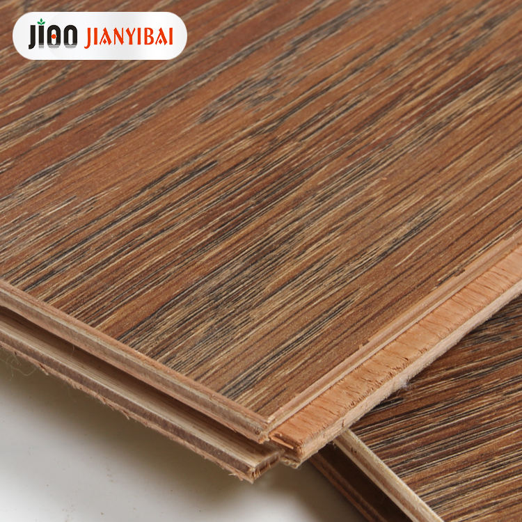 moisture-proof multichamber laminated floor wood E0 15mm dark oak wood flooring for bedroom