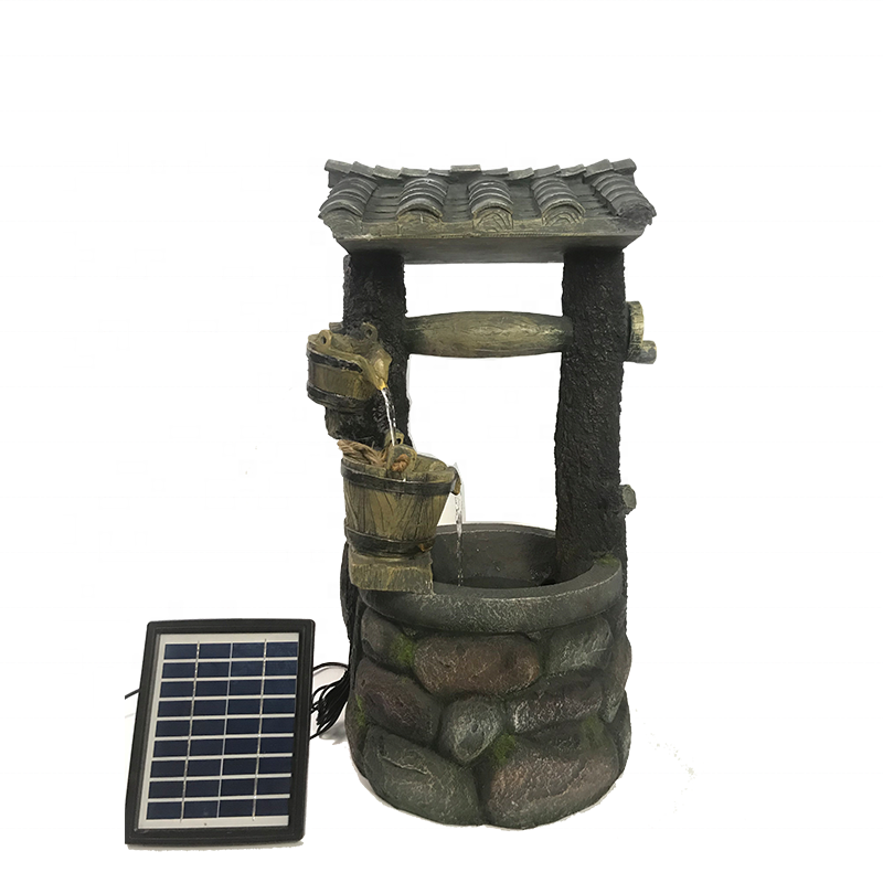 hotselling wishing well solar water fountain for garden decoration