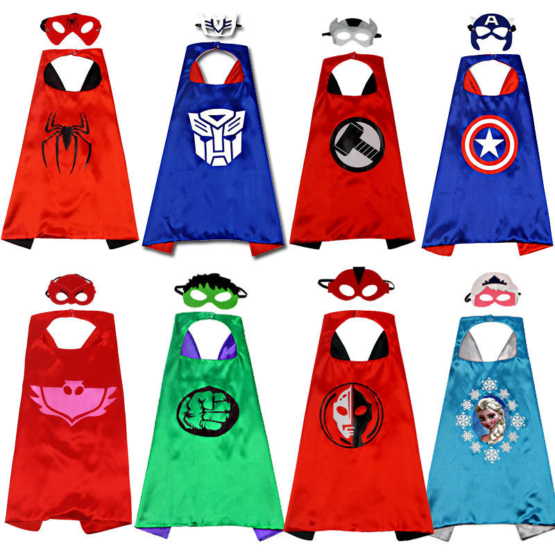 Superhero Capes for Kids 3-10 Year Old Boy Gifts Boys Cartoon Dress up Costumes Party Supplies
