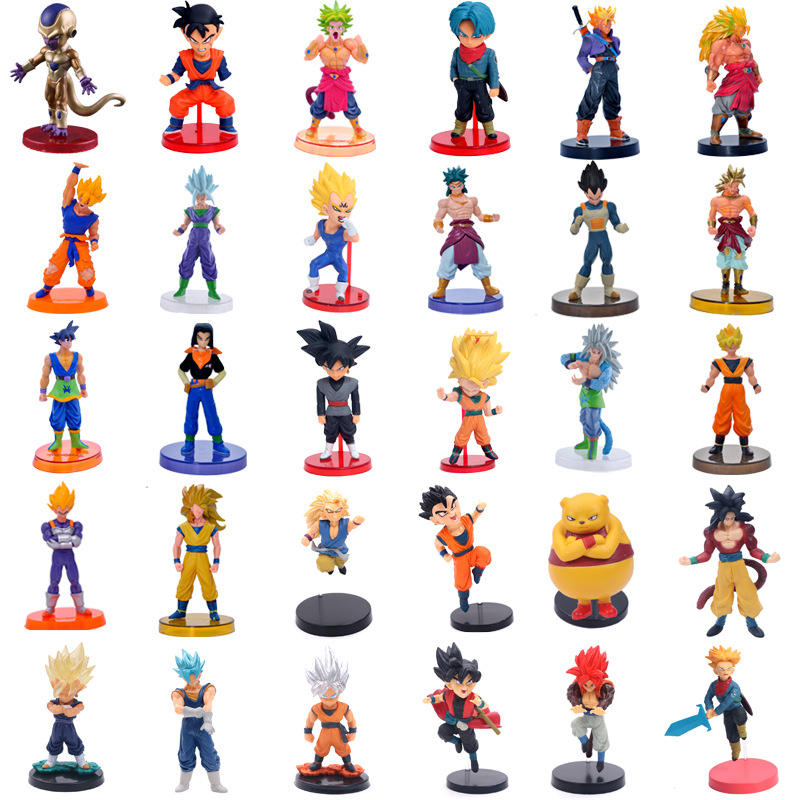 "Dragon Ball Z 4 ""Cijfers-6 Pack Super Sterren Goku Dragon Speelgoed Actiefiguren Cake Toppers Set-dragon Ball Toy Collection Gift"