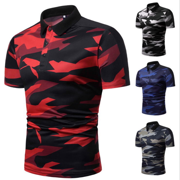 New Camouflage Mens Polo Shirt Brands Business Male Polo Dress Classic Breathable Summer Men t shirt
