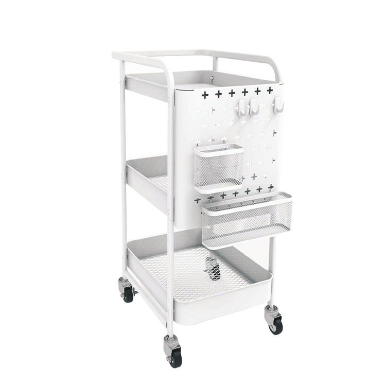 3-Tier Rolling Utility and organizer hand Cart with Handle for kitchen moving bathroom shelf storage trolley holders & racks car