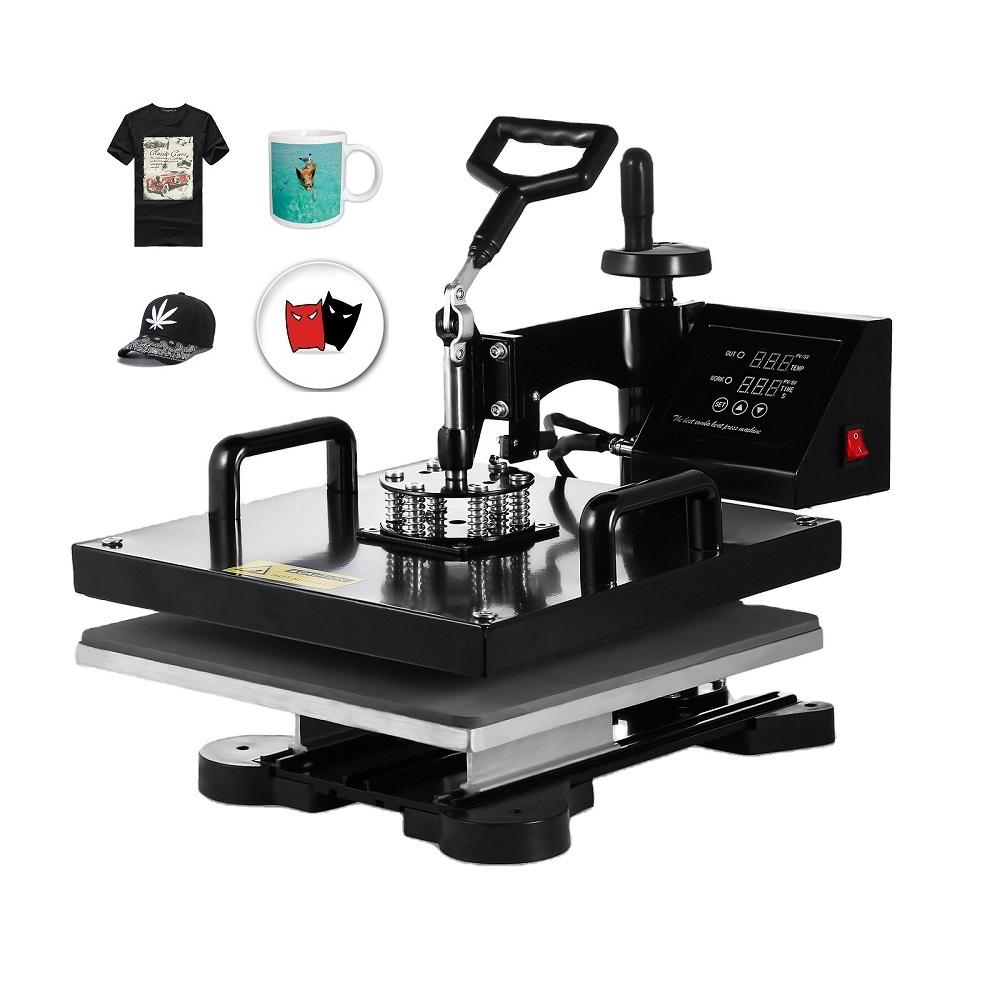 15x15 Inch combo 5IN1 heat press machine for T-shirt,Hat,Mug,Plate,Bottle