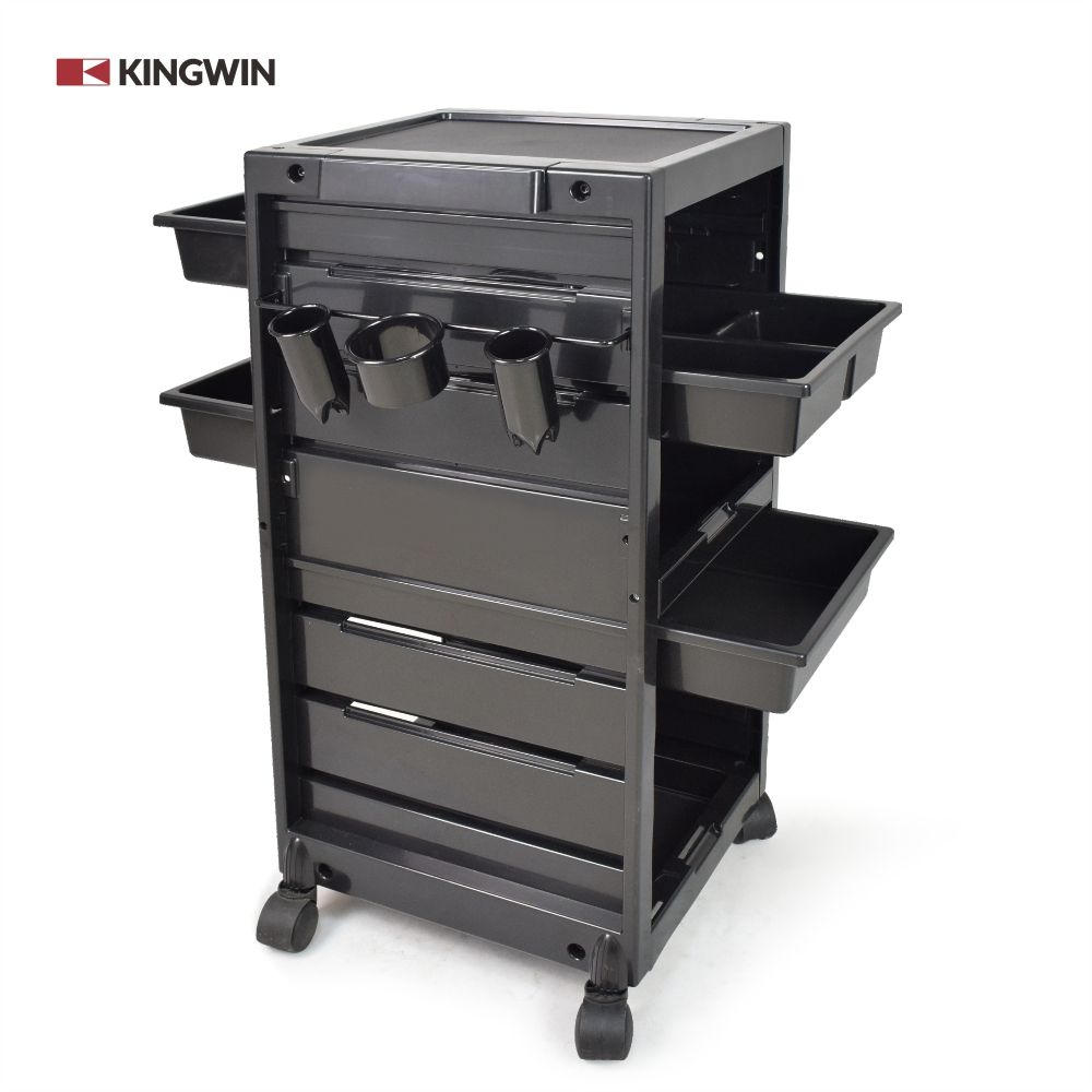 Salon Trolley Professional Black Lockable Hair Salon Trolley For Beauty Salon Factory Price