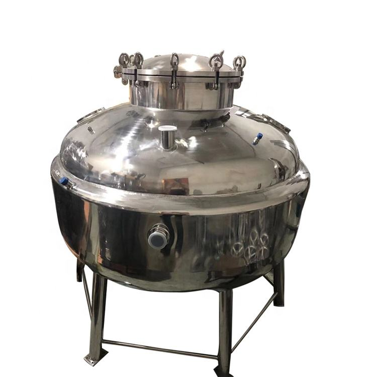 Stainless steel jacketed collection extraction vessel for closed loop extractor