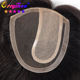 brazilian inject left part lace closure hand made long human hair ladies toupee