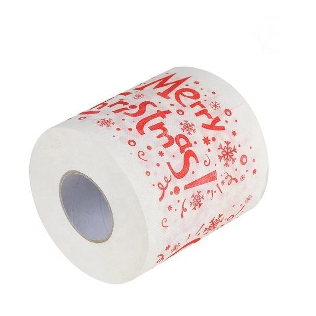 Factory Wholesale Merry Christmas Color Printed Toilet Paper with emboss
