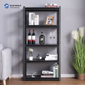 5 Layer Black Steel Storage Rackd Boltless Shelving Rack Warehouse Storage Rack
