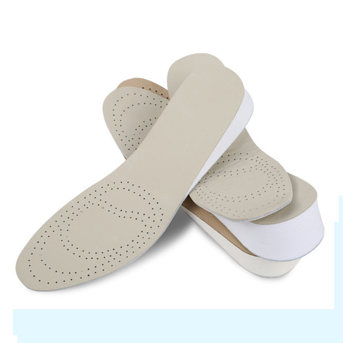 EVA leather insoles for shoes elevator height increase insoles