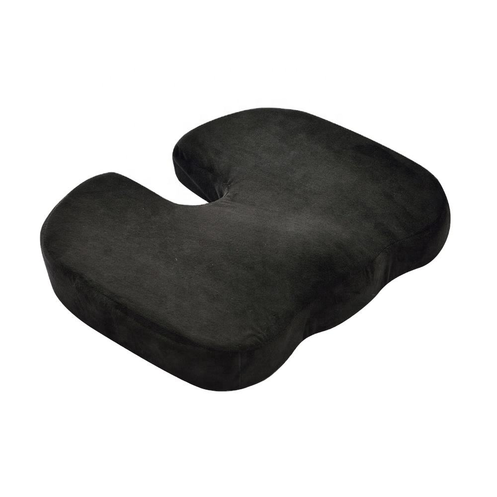 Promotional Non Slip Bottom Room Velboa Orthopedic Chair Cushion Coccyx Cushion Car Seat Memory Foam Cushion With Handle