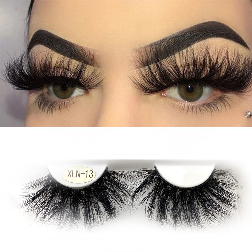 Fluffy Mink Eyelashes Vender 5d 25mm Faux Mink Synthetic Human Hair False Eyelash
