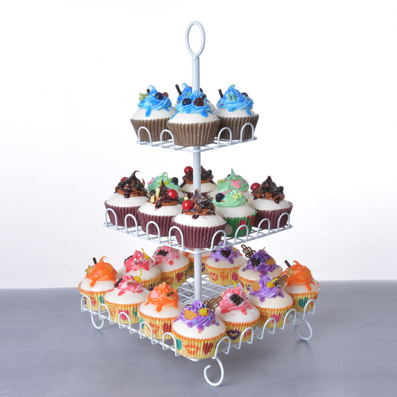 YZ1832-3 3 Tier Metal Mini CakeスタンドFor Wedding Cakes