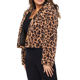 In Stock Winter Clothes Lady Fashion High Street Hooded Jacket Leopard Fur Coat