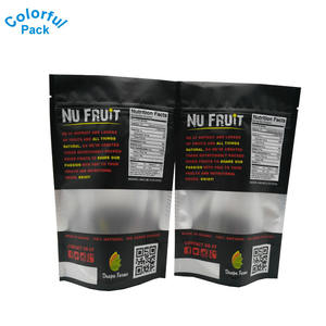 Wholesale factory price new design plastic food snack zip bag dry fruit packing