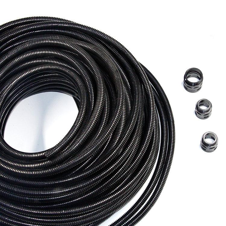 Black 10 13 15 18 21 25 28mm Split Loom Wire Flexible Tubing Conduit Hose Car