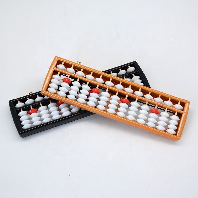13 rods white ivory beads durable frame abacus abacus soroban with reset button