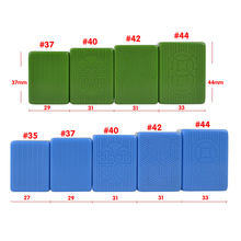 Factory supply high quality Chinese mahjong set blue and green tiles