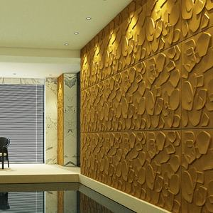 Modern exterior 3d pvc wall panel 3d wallpapers wall coating paper 3d waterproof