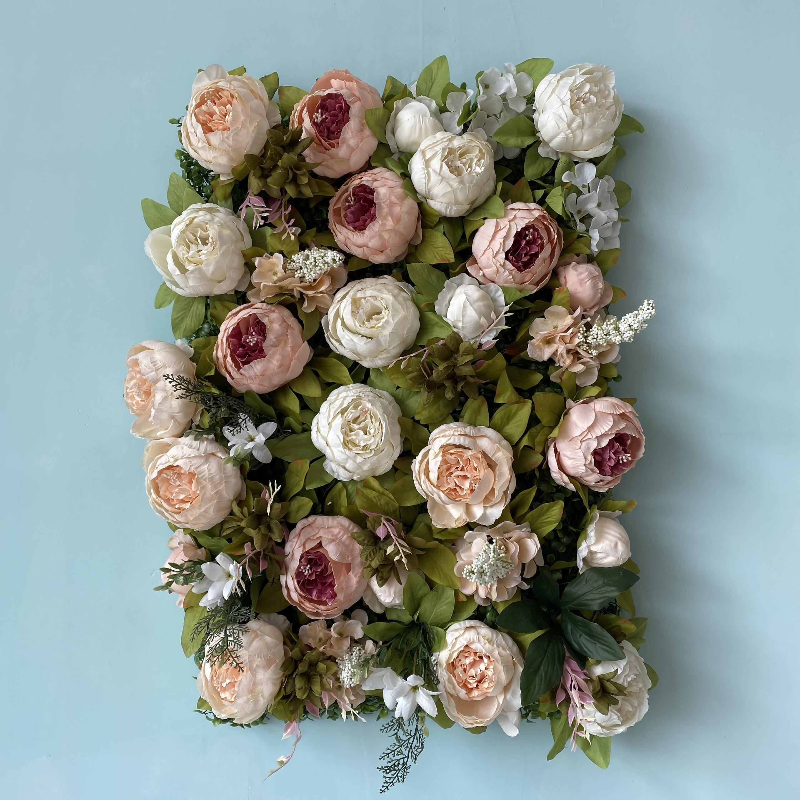 FC1002 High quality wedding backdrop artificial peony flower wall mat for sale
