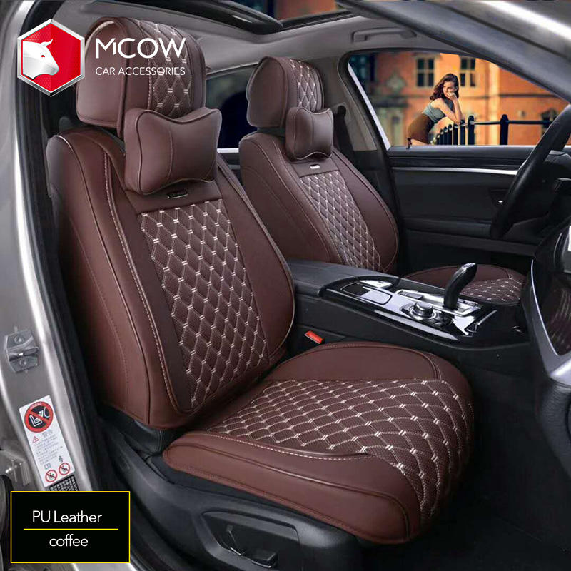 Mcow Seat Cover Customized Universal Leather Car Seat Cover Full Set For Car