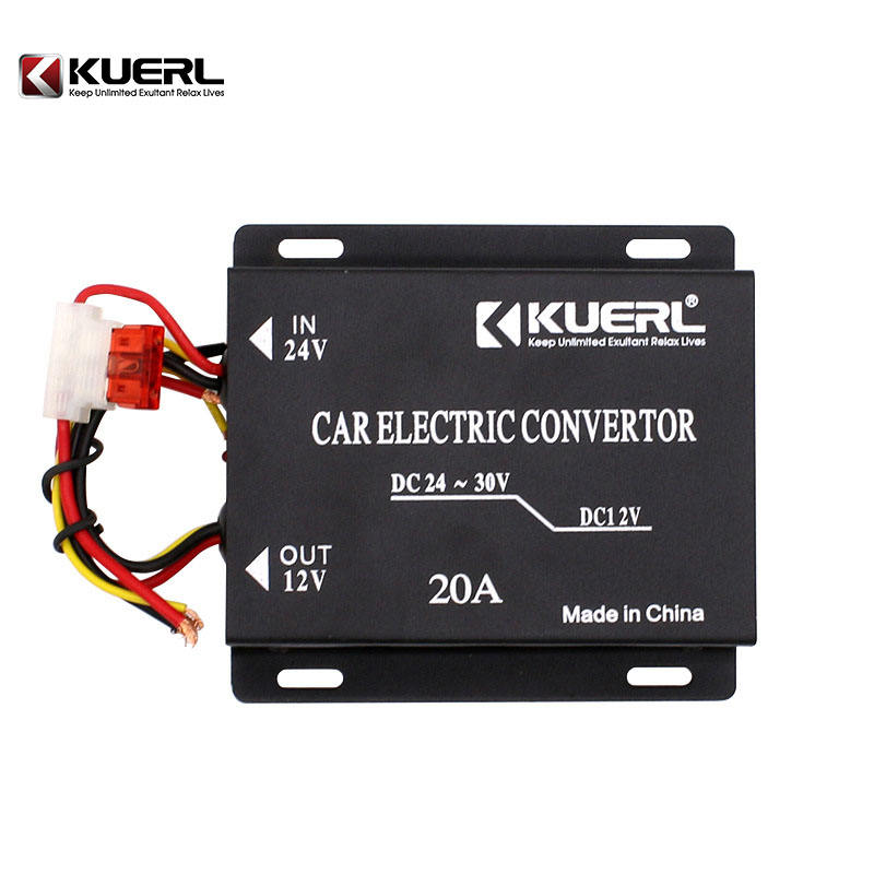 Wholesale DC 24V to DC 12V converter single output type 20A car power converter