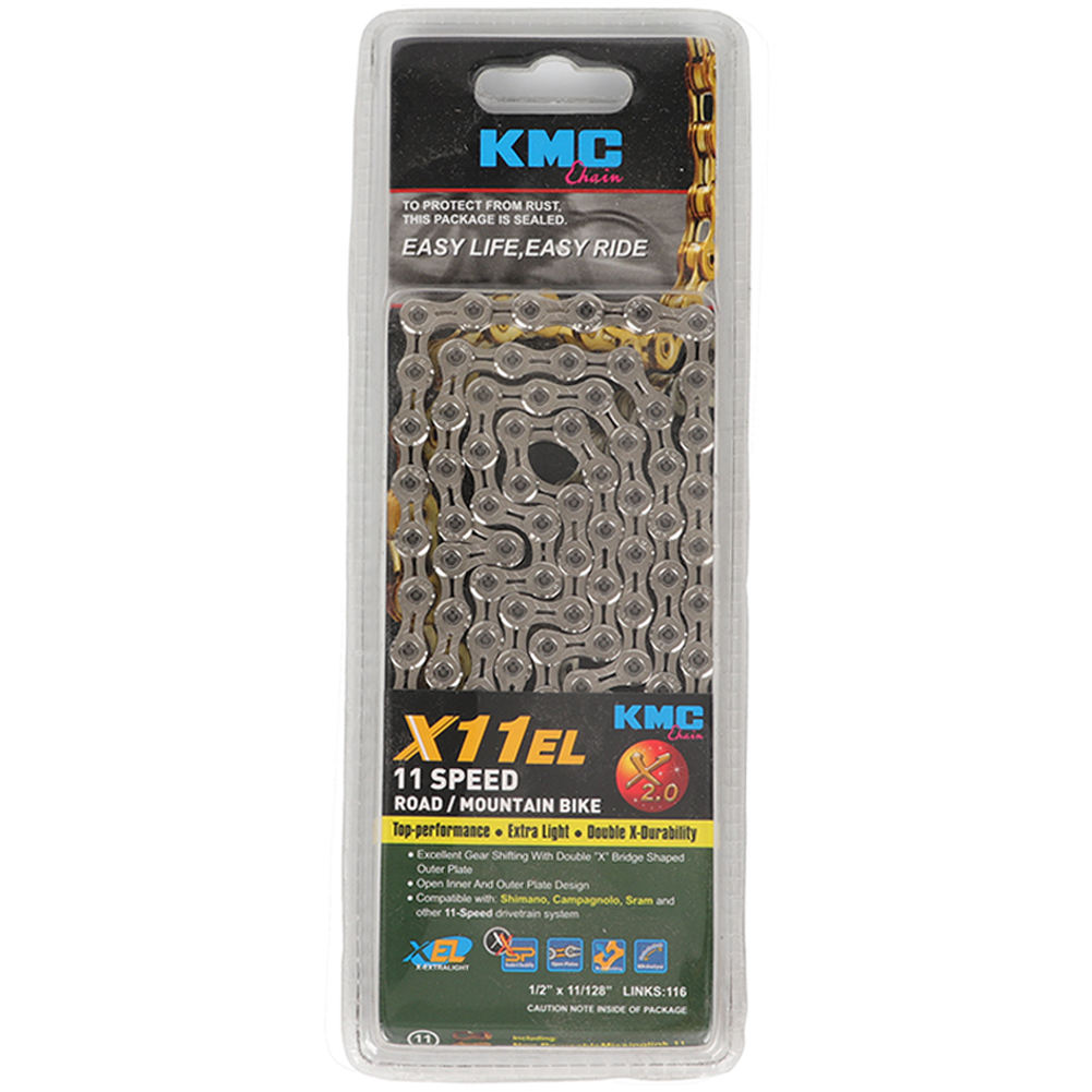 "X11 Silver Black 1/2""x11/128"" Mountain Road Bike Chain Parts 116 Links Wholesale KMC Bike Chain Bicycle Chain 11 Speed"