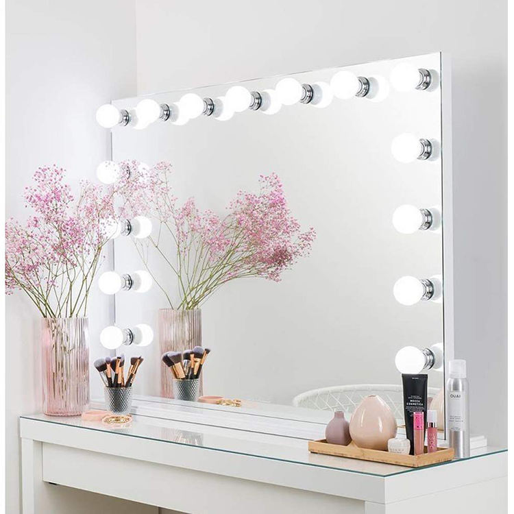 Hot Sale touchscreen vanity mirror hollywood style dressing table mirror with 14 bulbs