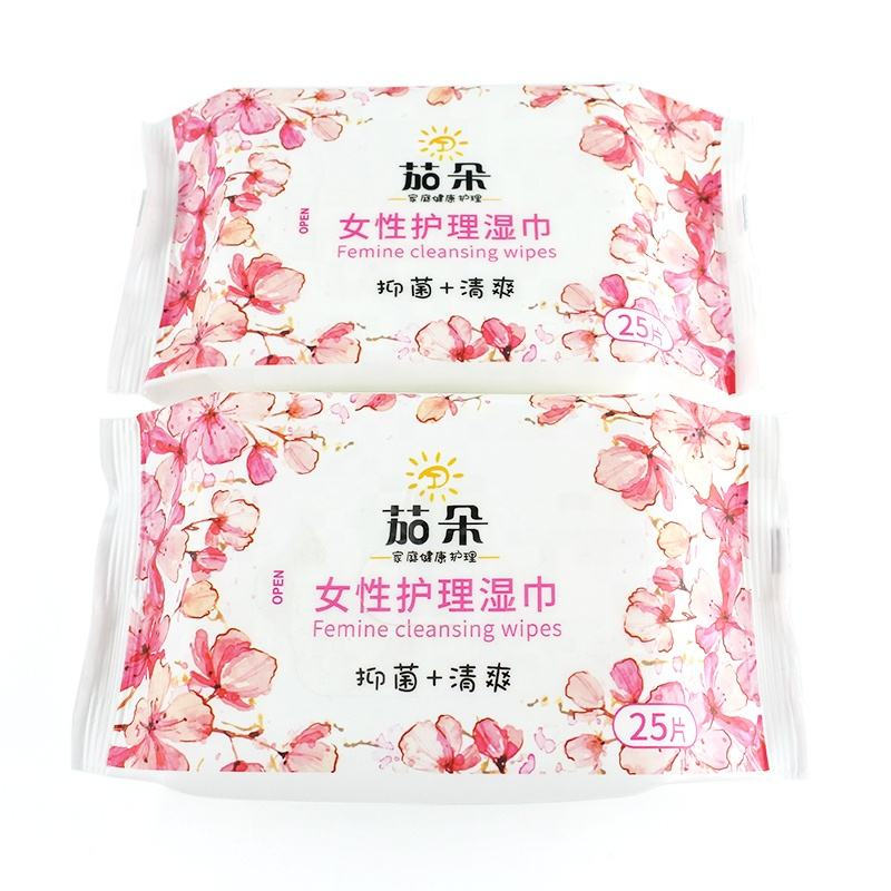 Custom Biodegradable feminine intimate Hygiene cleaning wet wipes