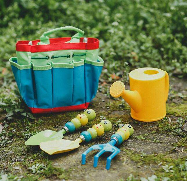 Multi Functional Arbor day Toys Gardent Tool Set for Kids garden sets 5 pcs 1set Caterpillar Shovel Watering Pot