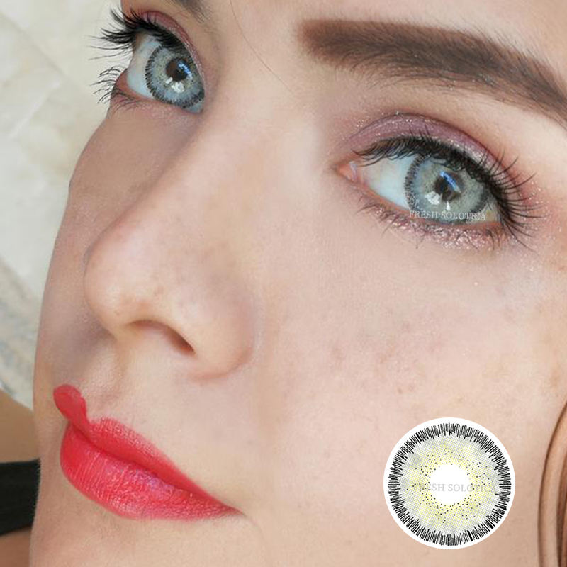 14.5Mm Magic Europa Stijl Ontwerp Hazel K19 Blue Smart Contactlenzen Power Lentes De Contacto