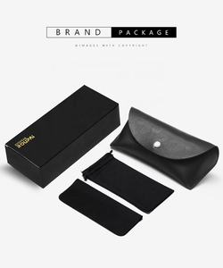 Factory Designer Custom Logo Wholesale Black Eyewear Private Label brand logo Sunglass Case