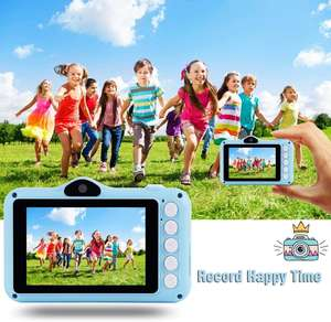 Mini Kamera Video HD 1080 P Camcorder 3.5 Inch IPS Layar Mainan Pendidikan Permainan & JOY Amazon Hot-Selling anak-anak Kamera Hadiah Natal