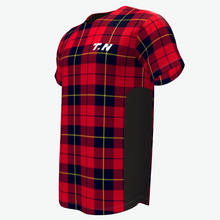Custom sublimated plaid wholesale baseball shirt
