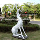 Resin Animal Figurine Animalresin Resin Figurines Resin Fiberglass Animal Figurine Fawn Deer Decoration For Garden Home Decoration