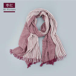 2020 cotton woven autumn  stripe scarf for women and man