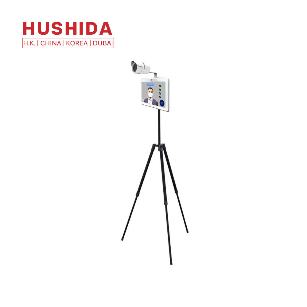 Graphic Customization Imager Thermal Camera Hushida 10.1 Inch Android Human Temperature Instruments Face Recognition Thermal Imaging Camera