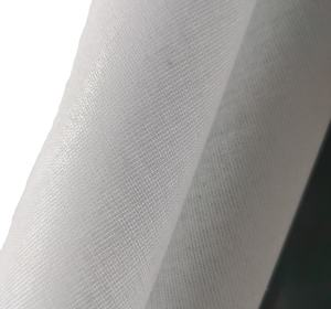 Hot selling buckram Interlining fabric 100%polyester T4550 Shirt intelrining for garment factory& wholesales customized