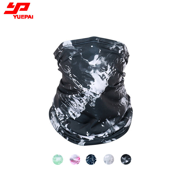 Sports Quick dry Cooling Black Half Face Shield Cover scarf buff neck gaiter Colorful Sublimation Custom logo print bandana