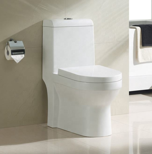 Modern Chinese toilet wc one piece dual flush toilet