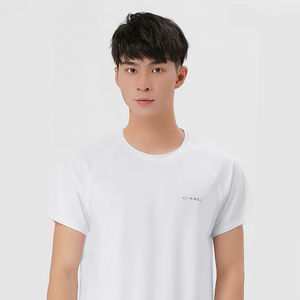 2020 guangzhou high quality wholesale reflective custom logo training Antifouling nano fabric active wear plain mens gym tshirt