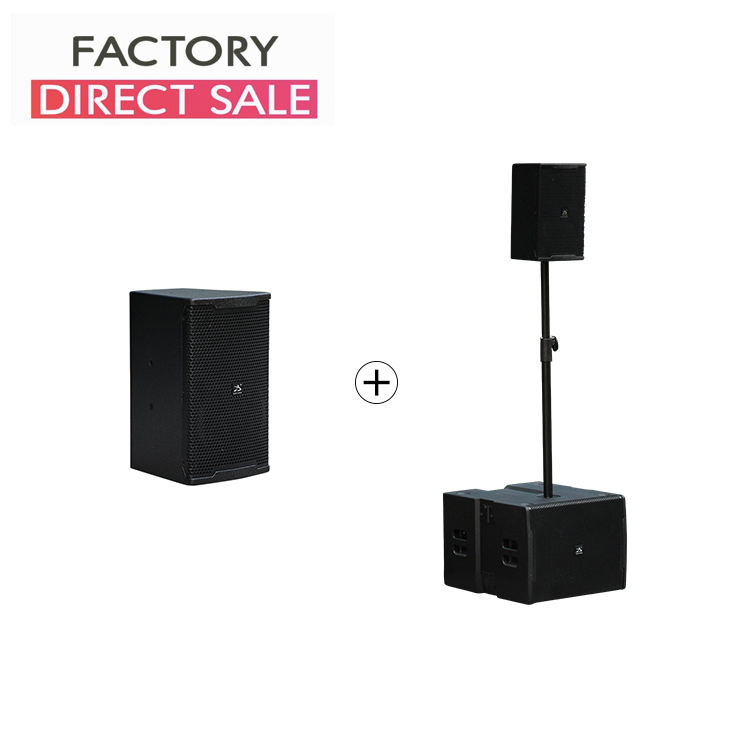 "800W 8"" + 15"" 2+2 active set mini PA speakers system for 100 300 people compact waterproof high power SPL"