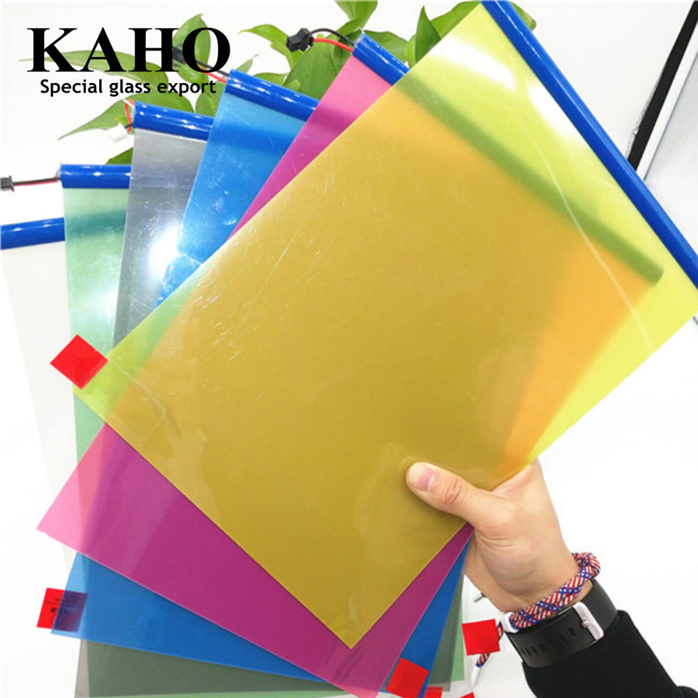 Nice Glass Dimmable Smart Adhesive Intelligent-glass Colored Pdlc Electrochromic Film