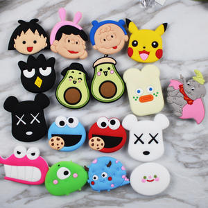 Soft PVC Cartoon 3d Finger Grip Phone Socket